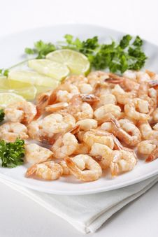 Free Shrimps With Lime Stock Photo - 18089840