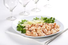 Free Shrimps With Lime Stock Photography - 18089862