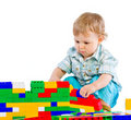 Free Cute Little Baby Boy With Colorful Building Block Royalty Free Stock Photos - 18093748