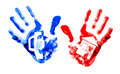 Free Multi Coloured Handprints. Stock Photos - 18096013