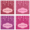 Free Cute Hearts Cards Royalty Free Stock Images - 18098009