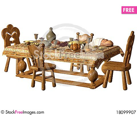 Free Dining Table 1 Royalty Free Stock Photography - 18099907
