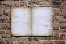 Free Paper On Brickwall Royalty Free Stock Image - 18091406