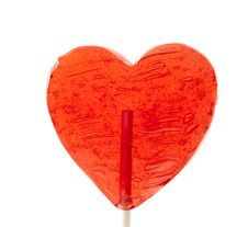 Free Candy Heart On A Stick Stock Photography - 18092082