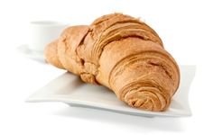 Free Croissant On A White Plate Royalty Free Stock Photography - 18092157