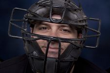 Free Man In A Catcher S Mask - Horizontal Royalty Free Stock Photo - 18092315