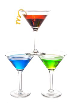 Free Colorful Martini Cocktails Drink Composition Royalty Free Stock Images - 18092869