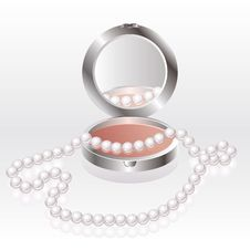 Free Blush With Pearl Necklace Stock Photos - 18093743