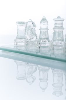 Close-up Of Glass Chess Stock Images