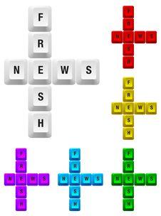 Free Fresh News Key Royalty Free Stock Photo - 18094795
