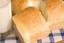 Homemade Bread Buns Stock Photos