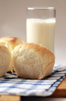Homemade Bread Buns Stock Images