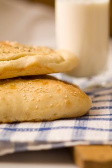 Homemade Bread Buns Stock Photo