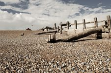 Free On The Beach Near Hastings Royalty Free Stock Photo - 18095965