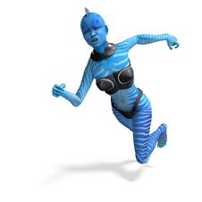 Free Blue Female Alien Running Royalty Free Stock Photography - 18095987