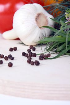 Free Peppercorn And Fresh Vegetables Stock Images - 18096064