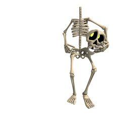 Free Very Funny Cartoon Skeleton Royalty Free Stock Image - 18096096