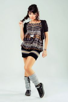 Free Cute Stylish Girl Stock Image - 18096421