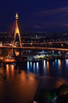 Free Bhumibol Bridge Royalty Free Stock Images - 18096439