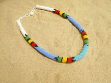 Free African Necklace Royalty Free Stock Image - 18097416