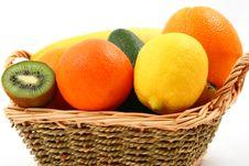Exotic Fruits Basket Stock Photo