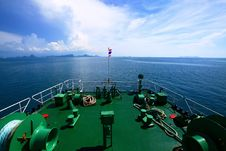 Bright Sky On Ferry Stock Image