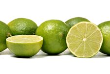 Free Limes, Isolated On White Stock Photography - 18097682