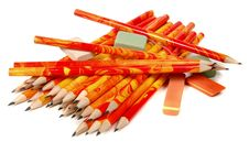 Free Rubbers And Lead Pencils Royalty Free Stock Image - 18097726