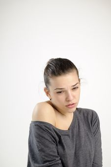 Sad Girl Suffering Royalty Free Stock Image