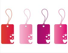 Free St. Valentine S Day Tags Royalty Free Stock Image - 18098016