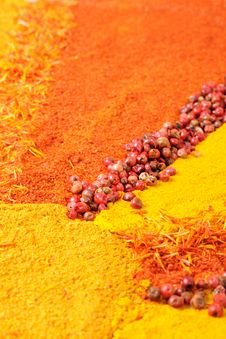 Free Background From Colourful Spices Royalty Free Stock Image - 18098436