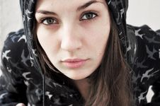 Free Sensitive Young Woman Royalty Free Stock Photography - 18099007