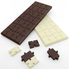 Free Chocolate In The Form Of Puzzles Stock Photography - 18099462