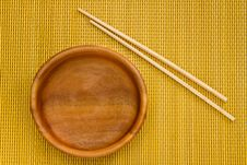 Free Empty Wooden Bowl Royalty Free Stock Image - 18099556
