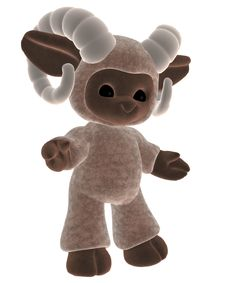 Toy Lamb 1 Royalty Free Stock Photos