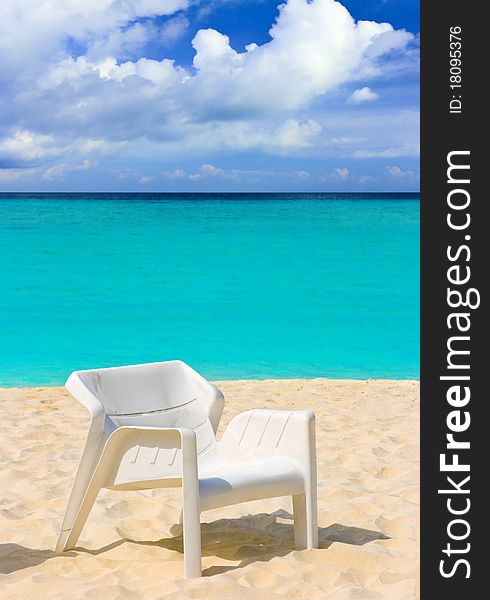 Chair on tropical beach