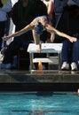 Free Woman Diving At Swim Meet Royalty Free Stock Image - 1819396