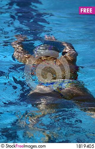 Free woman swimming underwater royalty free stock photo 1819405