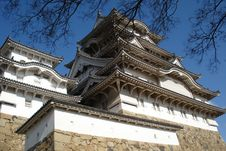 The Sky Of Himeji Castle 04 Royalty Free Stock Photo