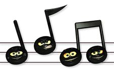 Free Smiley Music Notes Stock Photography - 1810652