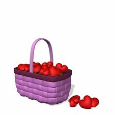 Free Basket Full Of Hearts Stock Photos - 1810663