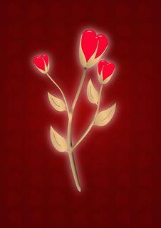 Gold Shine Flower - Heart Stock Image
