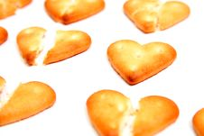 Salty Cookies In The Form Of The Broken Hearts 2 Royalty Free Stock Image