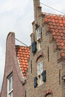 Free Roof Top Of Monumental Dutch House Stock Image - 1811751
