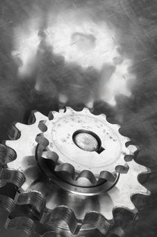 Gears In Monochrome Stock Photography