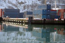 Free Winter Shipping Containers Royalty Free Stock Photography - 1814787