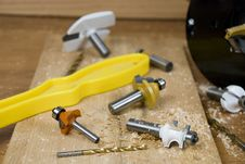 Router Bits Stock Image
