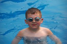 Swimming Boy Royalty Free Stock Photo