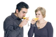 Free Couple Drinking Stock Images - 1816544