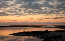 Dawn At The Sandbank Stock Photography